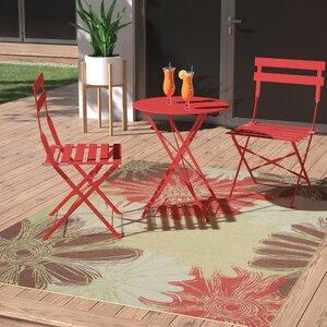 Avis Brown/Green/Red Indoor/Outdoor Area Rug