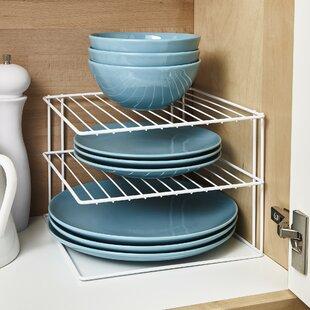 Macy 3 Tier Kitchen Cupboard Plate Organiser Dish Rack by Belfry Kitchen