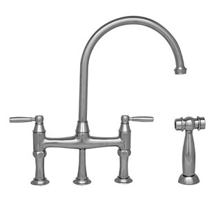 Whitehaus Collection Queenhaus Bridge Faucet with Side Spray