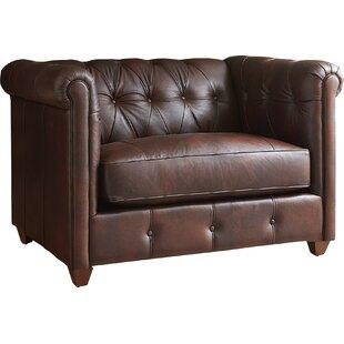 AllModern Custom Upholstery Keenan Leather Armchair
