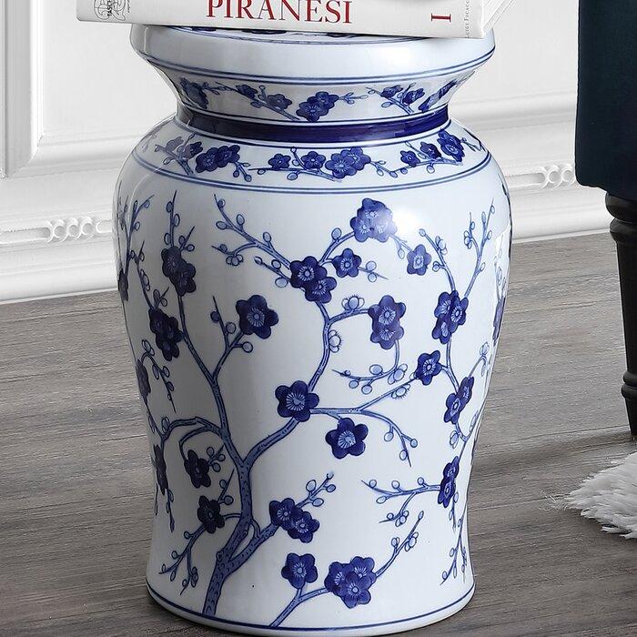 Amazing Wiese Cherry Blossom Ceramic Garden Stool Machost Co Dining Chair Design Ideas Machostcouk
