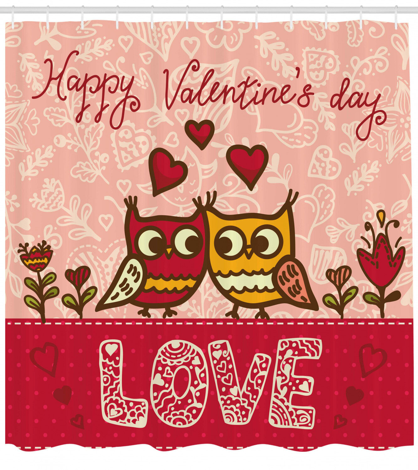 The Holiday Aisle Valentines Day Owls Single Shower Curtain Wayfair