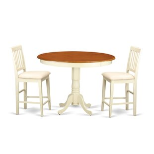 Trenton 3 Piece Pub Table Set Wooden Importers