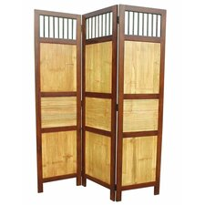 70 x 52 Bahama 3 Panel Room Divider by D-Art Collection