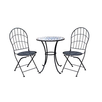 Racquel Patio 3 Piece Bistro Set by Ophelia & Co. Great Reviews