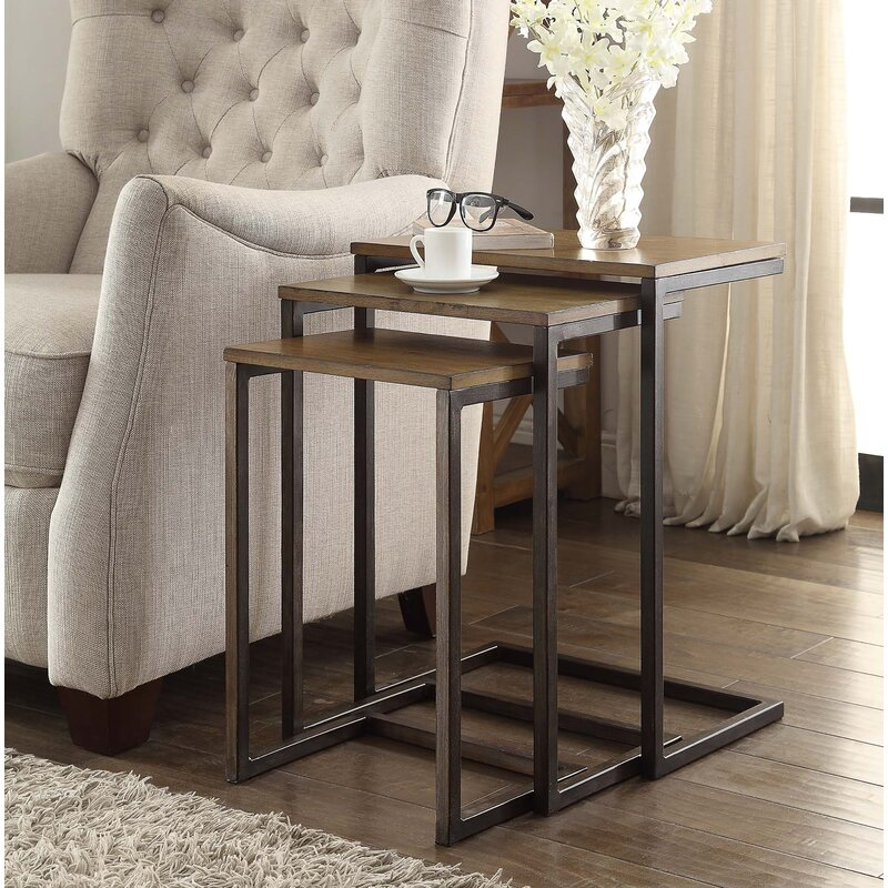 nesting end tables steel zenia piece nesting tables laurel foundry modern farmhouse