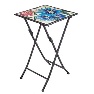 Barnish Floral Folding Steel Bistro Table