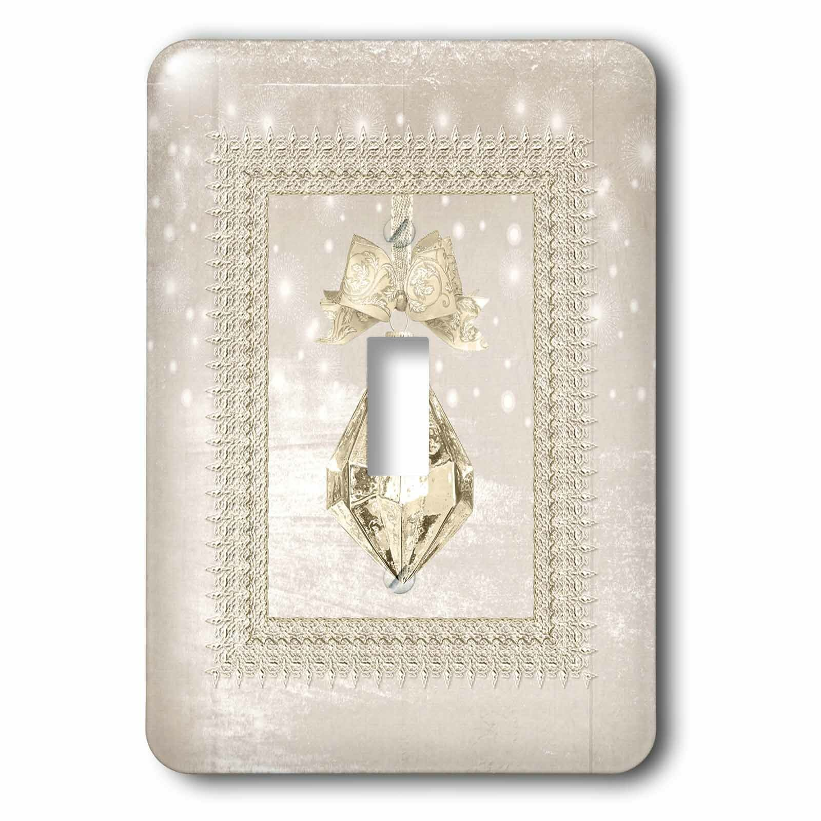 3drose Crystal Ornament 1 Gang Toggle Light Switch Wall Plate Wayfair