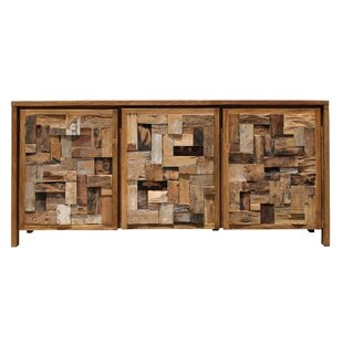 Hartly Mozaik 3 Door Cabinet by Rosecliff Heights