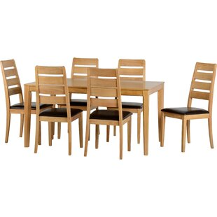 Koenig Dining Set With 6 Chairs By Brambly Cottage