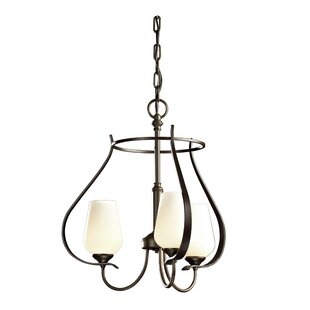 Hubbardton Forge Flora 3-Light Shaded Chandelier