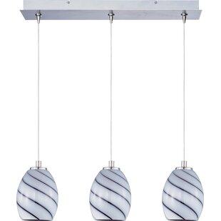Buy clear Mcwilliams Swirl 3-Light Pendant By Latitude Run