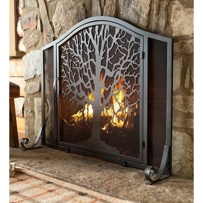 Super Tree Of Life Single Panel Iron Fireplace Screen Download Free Architecture Designs Ferenbritishbridgeorg