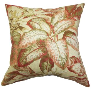 Adlai Floral Cotton Throw Pillow