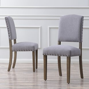 Rodarte Linen Padded High Back Upholstered Dining Chair (Set of 2) Gracie Oaks
