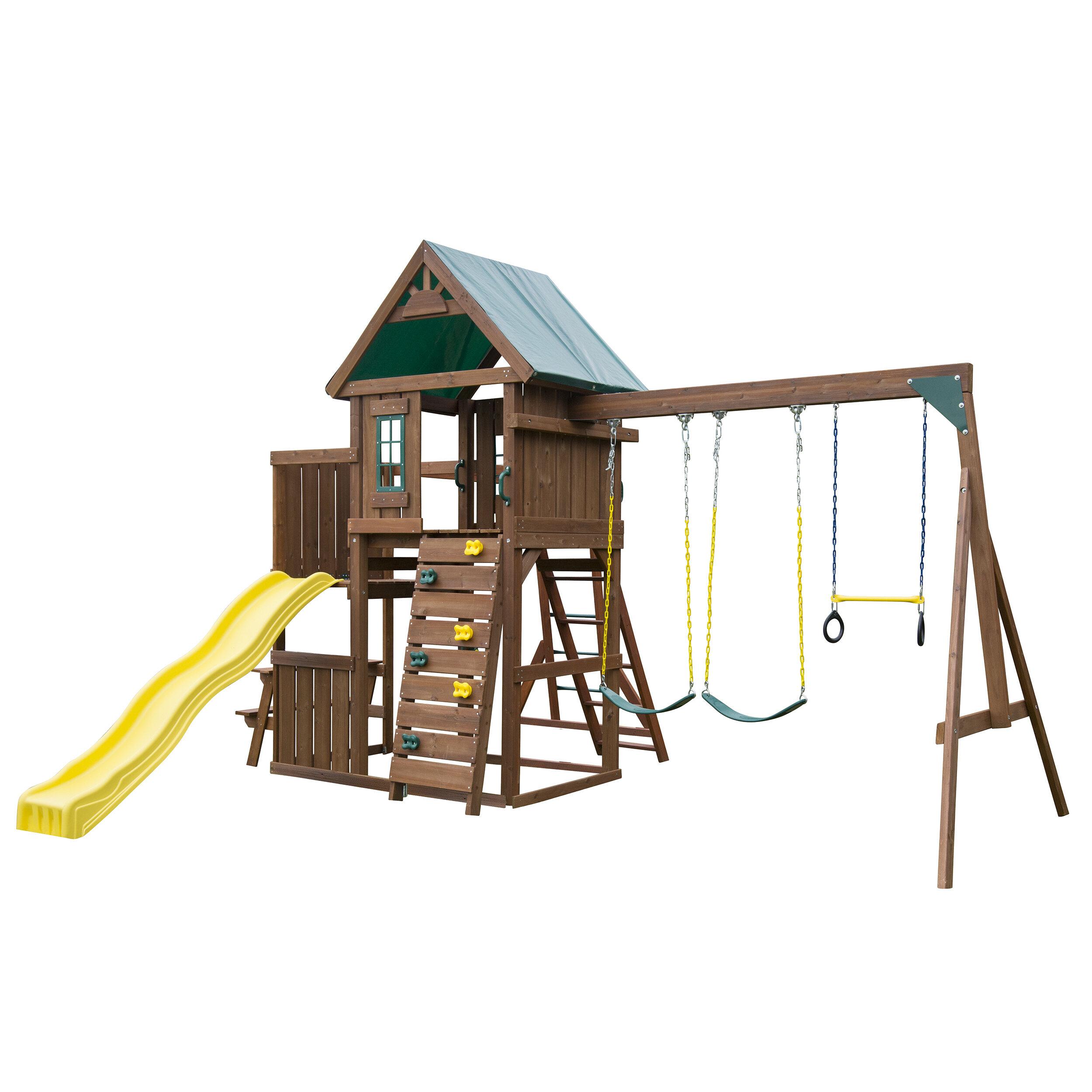 Swing-n-Slide Chesapeake Wood Complete Swing Set & Reviews   Wayfair