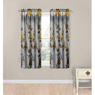 Nickelodeon Teenage Mutant Ninja Turtles Cross Hatching Polyester 4 Piece Curtain Panel Set