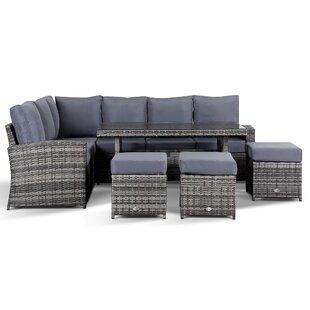 Geiser 9 Seater Rattan Corner Sofa Set Image