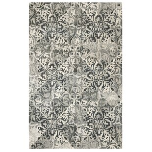 Low priced Stone Wall Hand-Tufted Black Area Rug By CompanyC