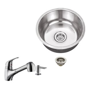 17 13 X 17 13 Undermount Bar Sink With Pull Out Faucet By Soleil