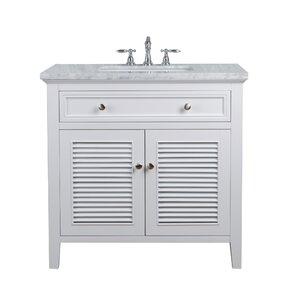White Bathroom Vanity 36 36 to 40 inch bathroom vanities you'll love   wayfair