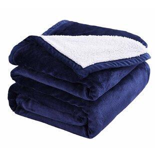 Dull Sherpa Throw Blanket