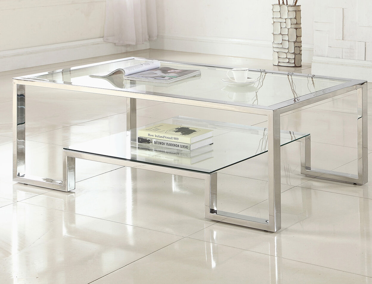Orren Ellis Mcauley Contemporary Coffee Table Reviews Wayfair