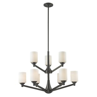 Brayden Studio Seeber 9-Light Shaded Chandelier