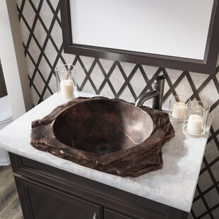 Slate Style Bronze Rectangular Vessel Bathroom Sink by MR Direct