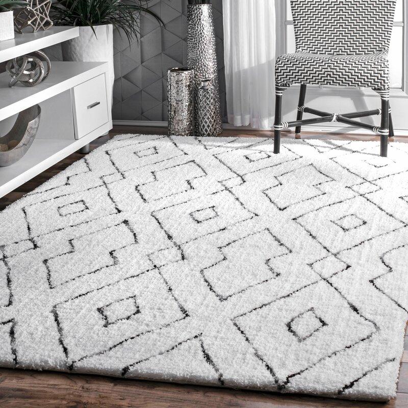 Peraza Geometric Handmade White Area