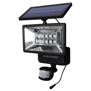 Solar 26-Watt LED Battery Operated Outdoor Security Flood Light with Motion Sensor