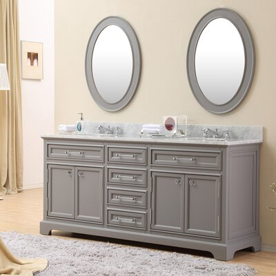 "Double Sink Bathroom Vanity darby home co colchester 72"" double sink bathroom vanity set with"