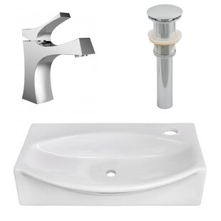 Order Ceramic 12 Wall Mount Bathroom Sink with Faucet ByAmerican Imaginations