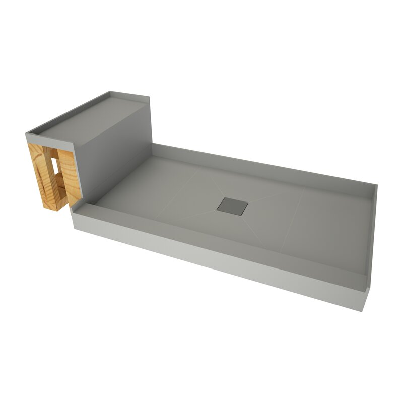 Tile Redi Base N Bench 34 X 72 Single Threshold Shower Base With Bech And Drain Grate Wayfair