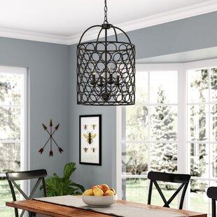 Gracie Oaks Nyyear 4-Light Lantern Chandelier