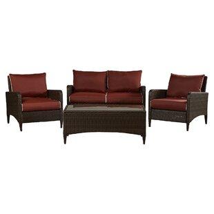 Mosca 4 Piece Sofa Set with Cushions