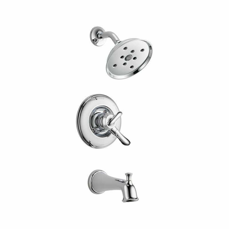 Delta Linden Tub and Shower Faucet Trim with Lever Handles and ...