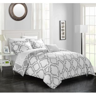 Borgata 4 Piece Reversible Duvet Cover Set