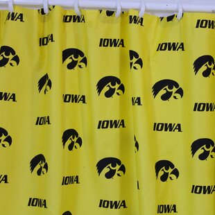 NCAA Iowa Cotton Printed Single Shower Curtain by College Covers