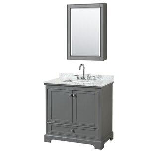 Deborah 36 Single Bathroom Vanity Set with Medicine Cabinet by Wyndham Collection