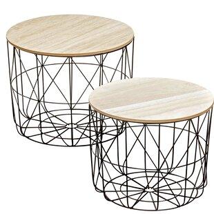 Wrought Studio Blomkest 2 Piece Coffee Table Set