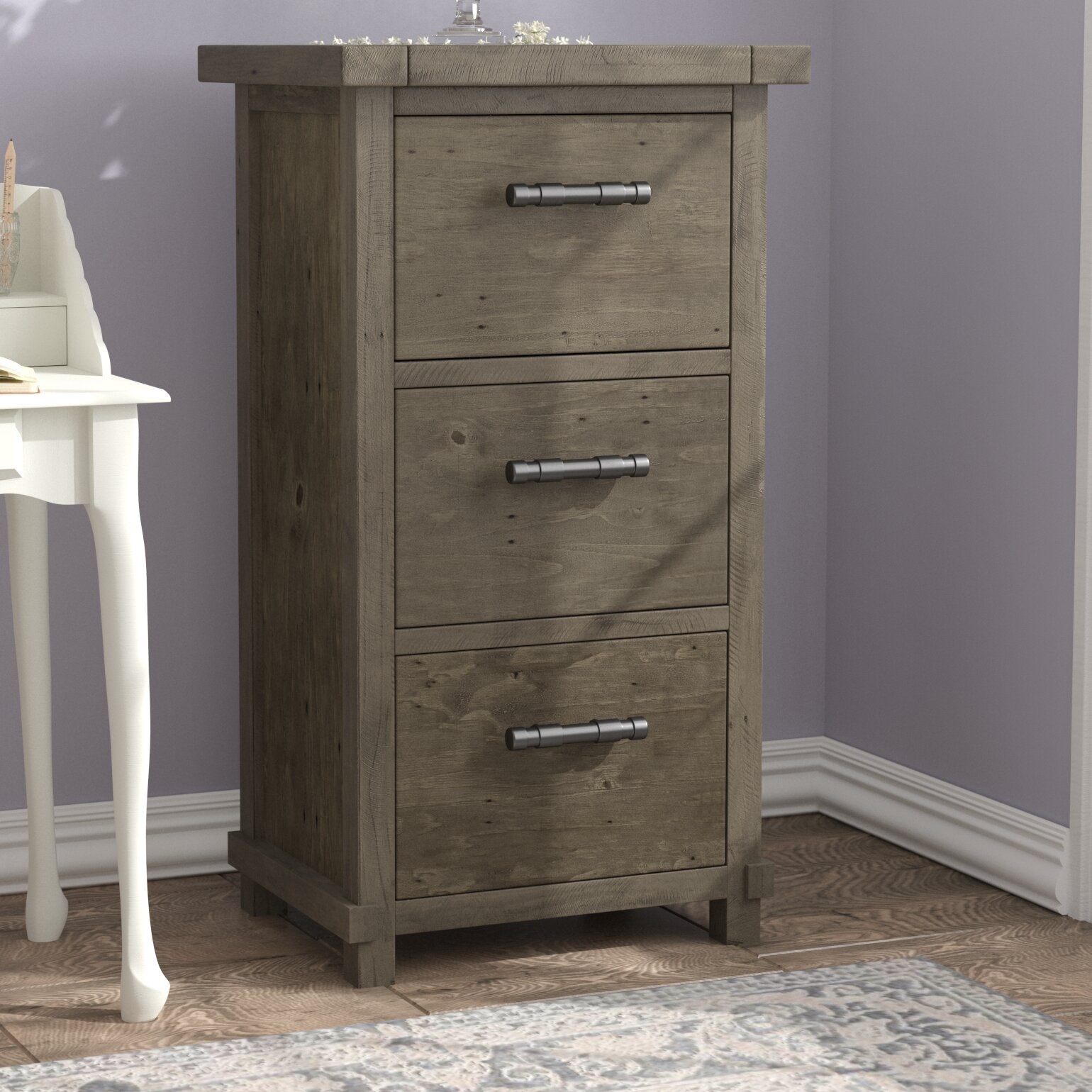 Gertrude 3 Drawer Vertical Filing Cabinet