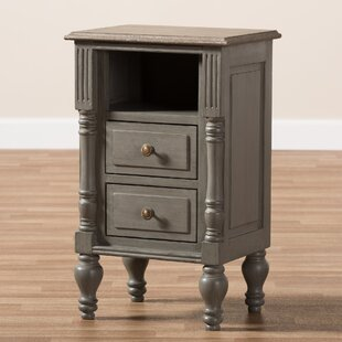 Lawanda 2 Drawer Nightstand by DarHome Co Looking for