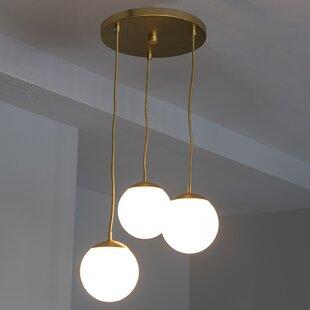 Wrought Studio Eveleth 3-Light Globe Pendant