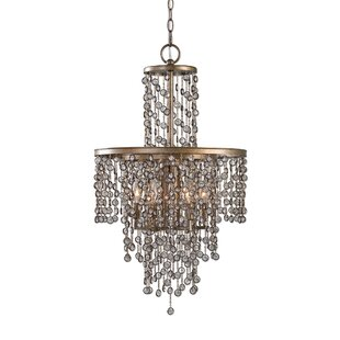 House of Hampton Barrera 6-Light LED Crystal Chandelier