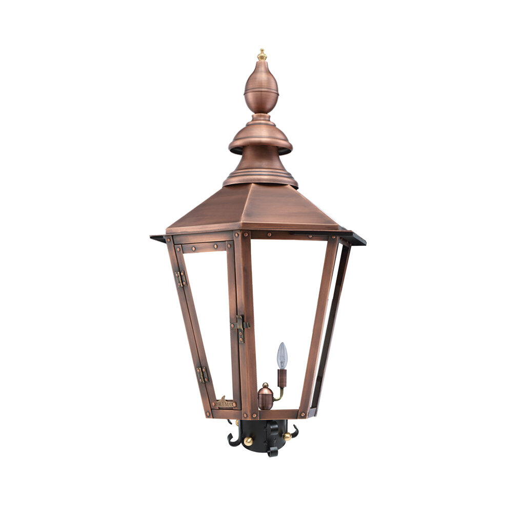 Primo Lanterns Vicksburg Aged Copper 1 Light 31 H Hardwired Lantern Head Wayfair