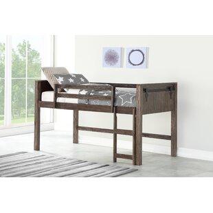 Ivanna Barn Door Twin Loft Bed by