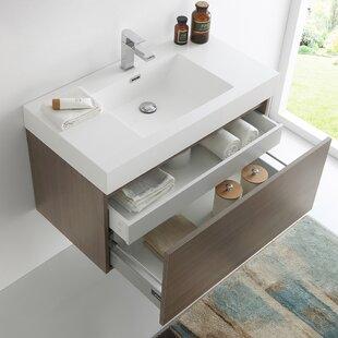 Mezzo 36 WallMounted Single Bathroom Vanity Set by Fresca