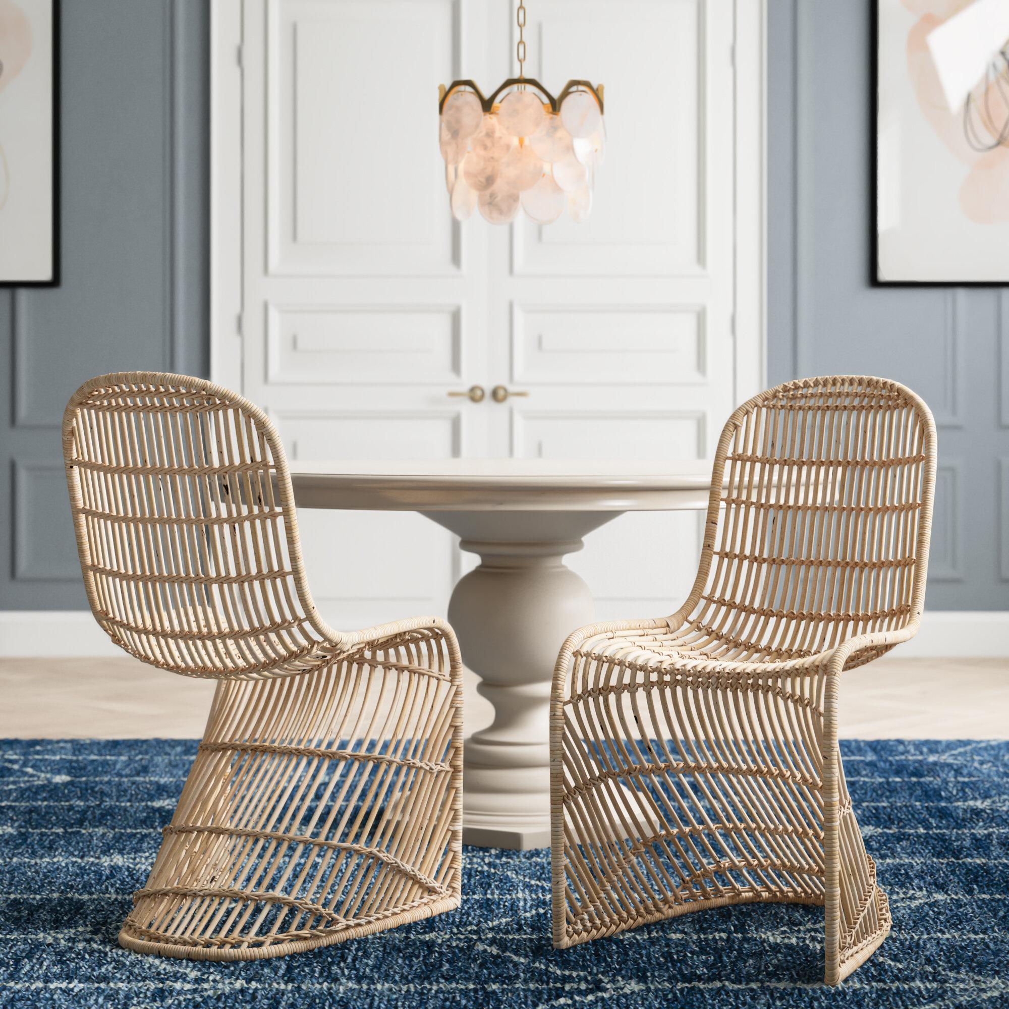 Wicker Rattan Dining Chairs Joss Main