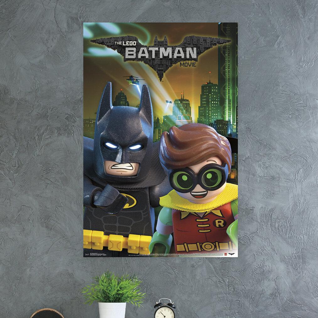 Trends International Lego Batman Batman And Robin Paper Print Wayfair